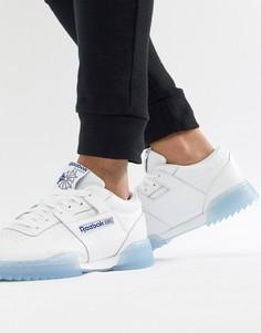 Белые кроссовки Reebok Workout Clean Ripple CM9931 - Белый