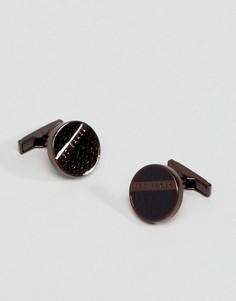 Запонки с эмалью коричневого цвета Ted Baker - Коричневый