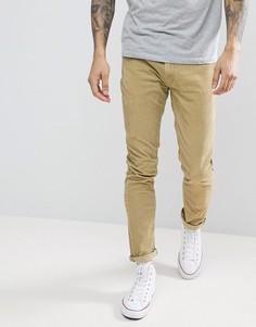 Бежевые вельветовые джинсы Rollas - Коричневый