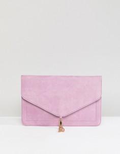 Клатч с кисточкой ASOS - Фиолетовый