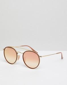 Круглые солнцезащитные очки Ray-Ban 0RB3647N - Розовый