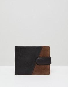 Коричневый кожаный кошелек New Look - Коричневый