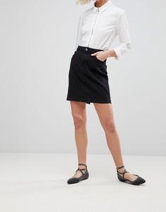 Джинсовая юбка b.Young - Серый