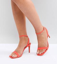 Босоножки на каблуке для широкой стопы ASOS HALF TIME - Красный