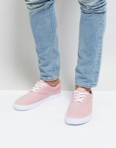 Розовые парусиновые кеды на шнуровке ASOS - Розовый