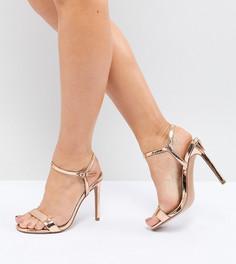 Легкие босоножки на каблуке для широкой стопы ASOS DESIGN Hands Down - Золотой
