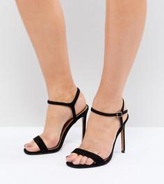 Легкие босоножки на каблуке для широкой стопы ASOS DESIGN Hands Down - Черный