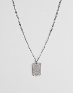 Цепочка из нержавеющей стали с подвеской ASOS DESIGN - Серебряный