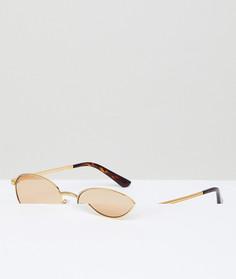 Круглые золотистые солнцезащитные очки Vogue Gigi Hadid - Золотой