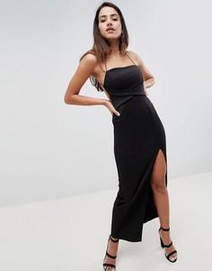 Платье макси ASOS DESIGN - Черный