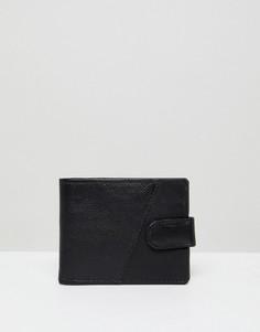 Черный кожаный кошелек New Look - Черный