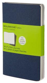 Блокнот Moleskine CAHIER JOURNAL POCKET 90x140мм обложка картон 64стр. нелинованный синий индиго (3ш [ch213]