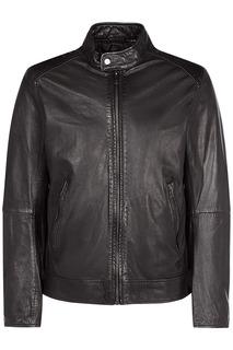 Куртка из натуральной кожи с воротником-стойкой Urban Fashion for men