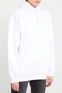 Белое худи с логотипом на спине Balenciaga