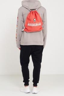 Текстильный красный рюкзак Napapijri