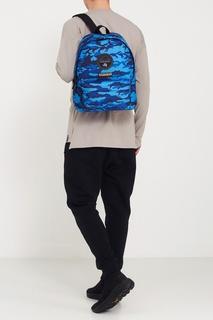Синий рюкзак с камуфляжным принтом Napapijri