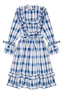 Хлопковое платье в клетку Artem Krivda