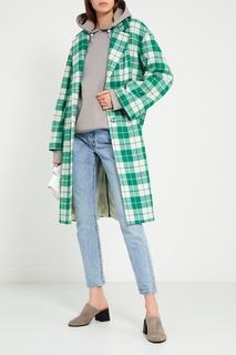 Шерстяное пальто в зеленую клетку Artem Krivda