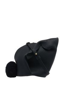 Черная кожаная мини-сумка Bunny Loewe
