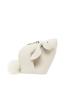 Белый кожаный кошелек Bunny Loewe