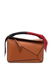 Коричневая сумка из кожи Puzzle Loewe