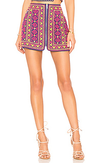 Мини юбка с вышивкой port - MAJORELLE