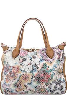Кожаная сумка с короткими ручками Fiato