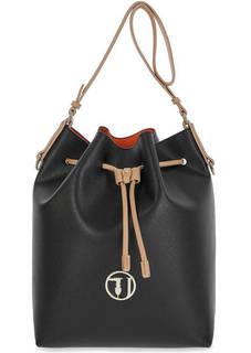 Вместительная сумка-торба с косметичкой на карабине Trussardi Jeans