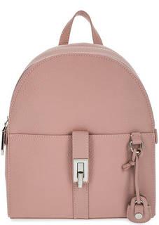 Бежево-розовый рюкзак с двумя отделами Trussardi Jeans
