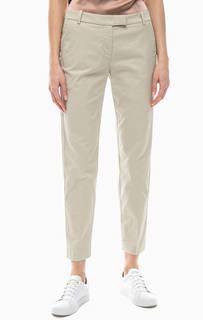 Бежевые зауженные брюки из хлопка Marc Opolo