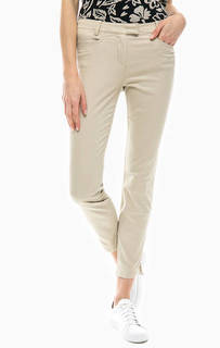 Укороченные брюки бежевого цвета из хлопка Marc Opolo