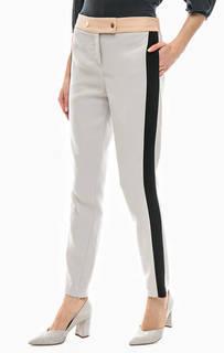 Серые зауженные брюки на кнопках Trussardi Jeans