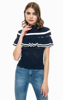 Синий джемпер с короткими рукавами Guess