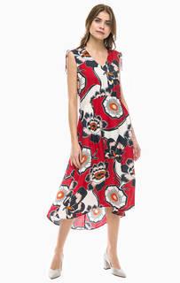 Длинное платье с цветочным принтом Marc Opolo