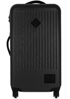 Пластиковый чемодан черного цвета Herschel