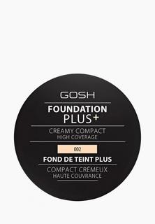 Тональное средство Gosh Gosh! компактная кремовая Foundation Plus, 9 г, 002 слоновая кость