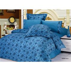 Комплект постельного белья Le Vele 2-х сп, сатин/жатый шелк, Bremen Blue (743/75)