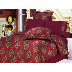 Комплект постельного белья Le Vele 2-х сп, сатин/жатый шелк, Saratoga (743/50)