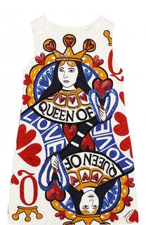 Мини-платье А-силуэта с принтом Dolce & Gabbana