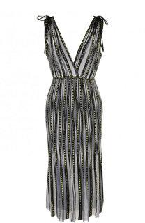 Приталенное вязаное платье-миди M Missoni