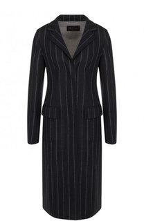 Приталенное шерстяное пальто из эластичной шерсти Loro Piana