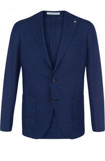 Однобортный шерстяной пиджак Sartoria Latorre