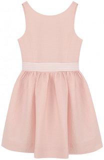 Хлопковое платье с широким поясом Polo Ralph Lauren