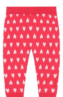 Хлопковые брюки с принтом Armani Junior