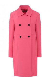 Однотонное двубортное пальто из шерсти Valentino