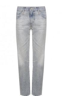 Укороченные джинсы прямого кроя с потертостями Ag