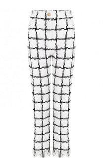 Укороченные буклированные брюки прямого кроя Balmain