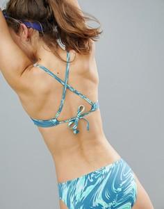 Двусторонний бикини-топ с перекрестом на спине Nike Swim - Мульти