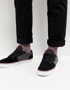 Мужские черные кроссовки Etnies Barge LS - Черный