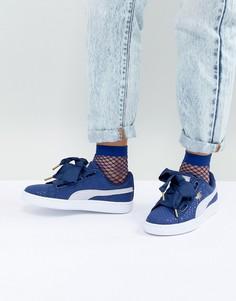 Кроссовки синего джинсового цвета Puma - Синий